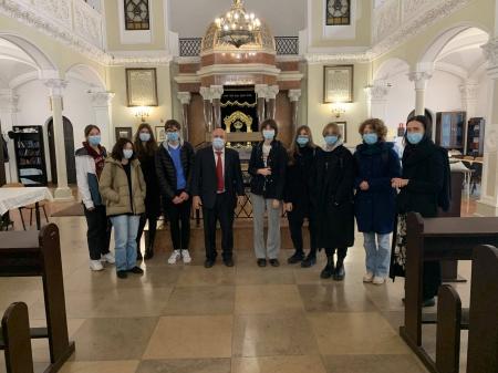 Wizyta klasy IF i IG w Synagodze im. Małżonków Nożyków w Warszawie