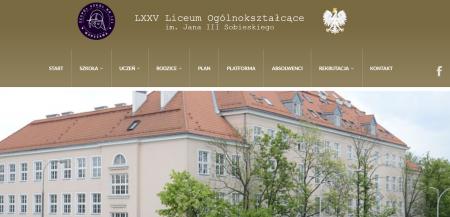 Nowa strona szkoły - www.sobieski.edu.pl
